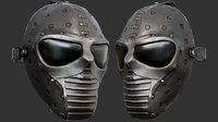 black ballistic mask 3D model