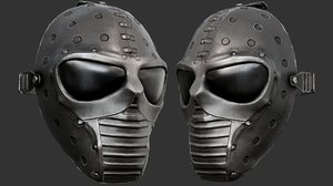 black ballistic mask 3D model