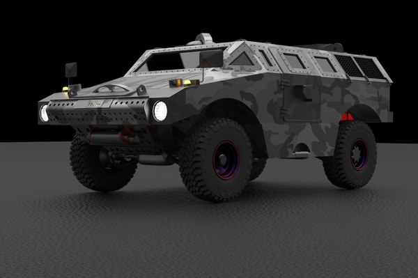 3D alvis scarab d1 vehicle