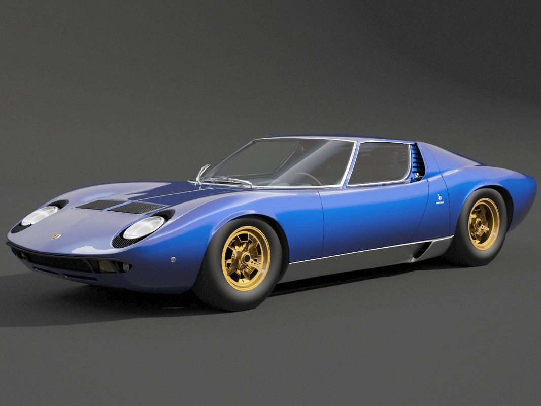 Lamborghini Miura 1967 3d Model Turbosquid 1363518