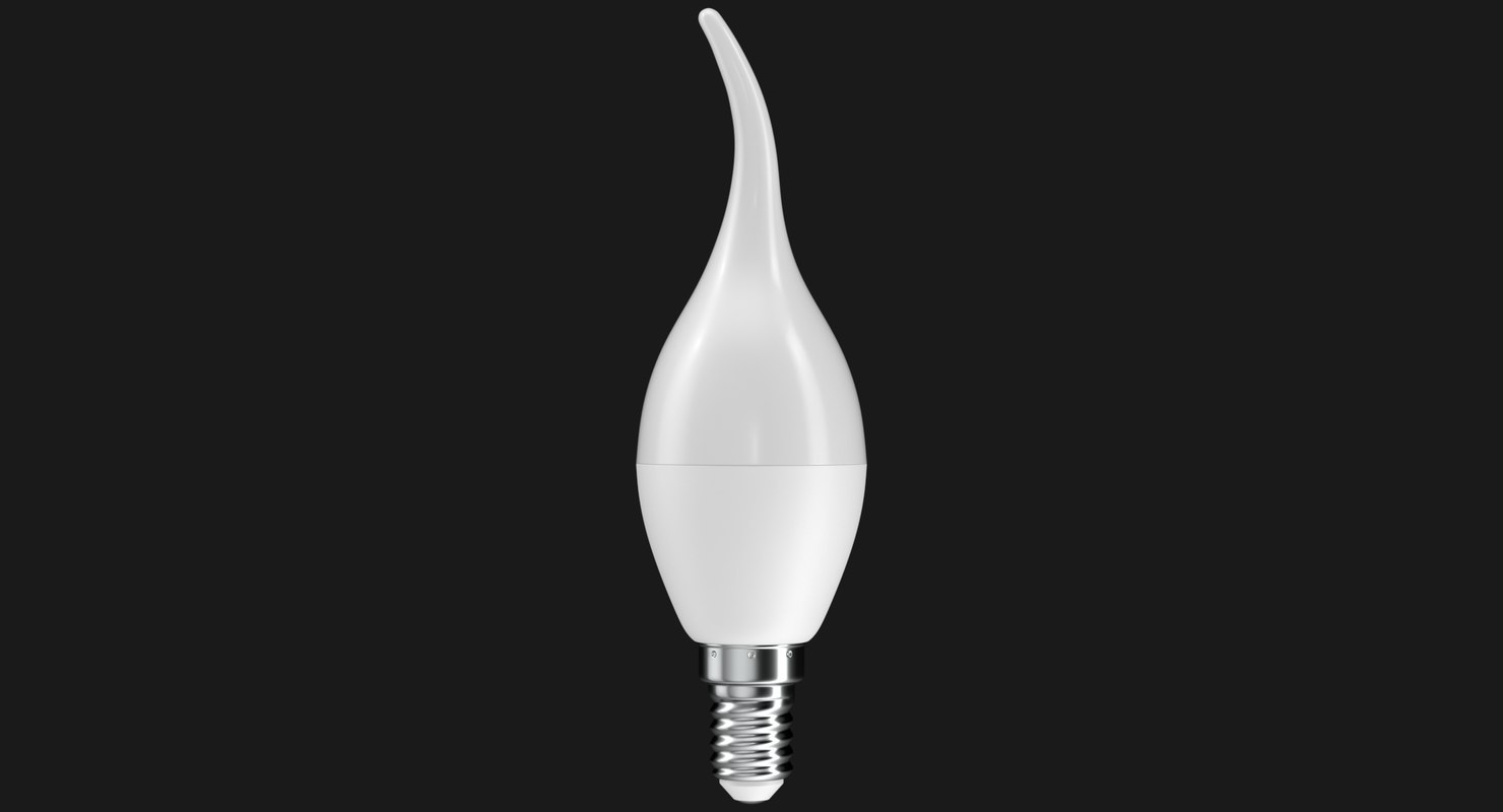 3D realistic led light bulb