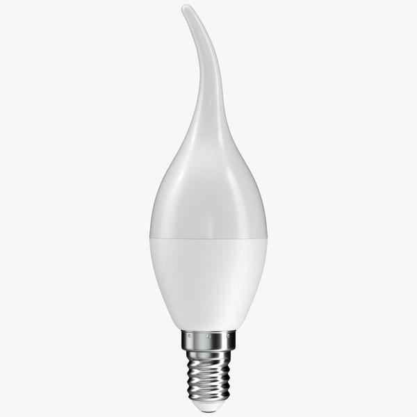3D realistic led light bulb