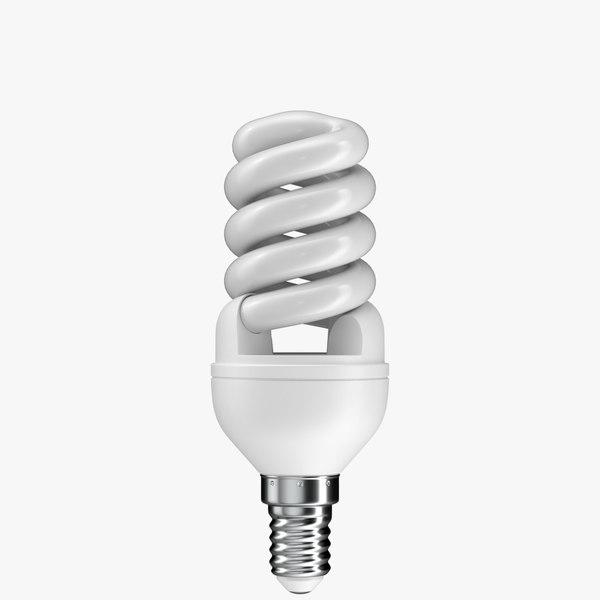 realistic cfl light bulb model