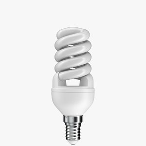 realistic cfl light bulb model
