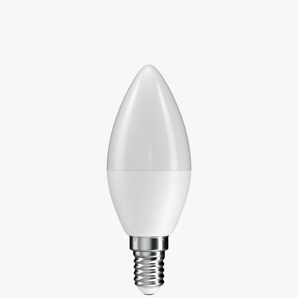 3D realistic led light bulb model