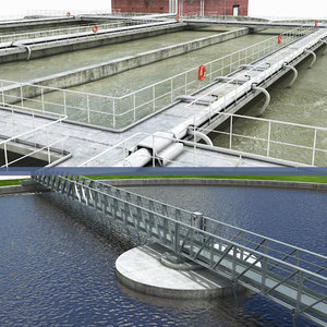 water treatment plant 3D