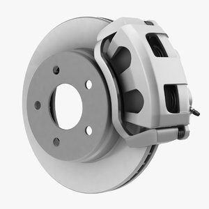 3D model dual piston car disc brake