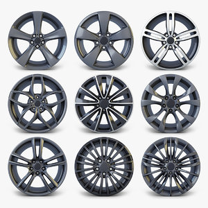3D car rim wheel volume 2