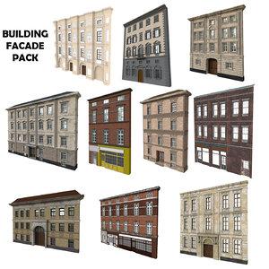 building facade pack 3D