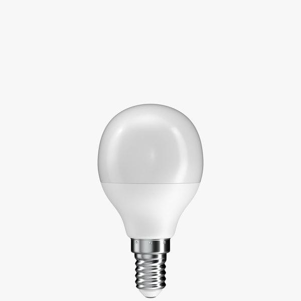 realistic led light bulb 3D model