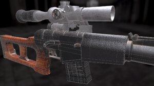 3D blender substance painter model