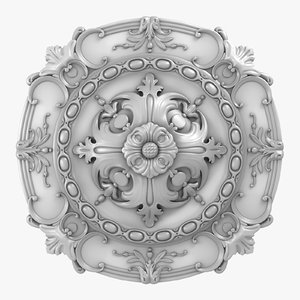 3D rose ceiling medallion m108 model