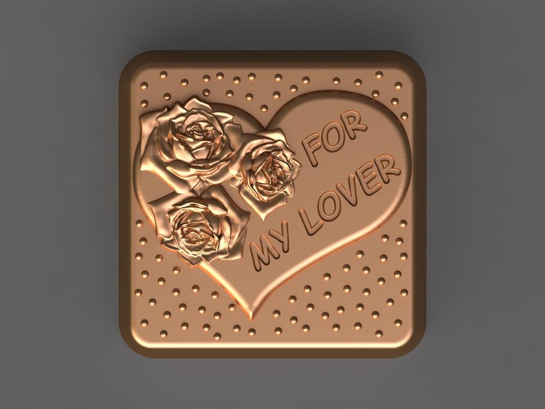 chocolate mold hand 3D model