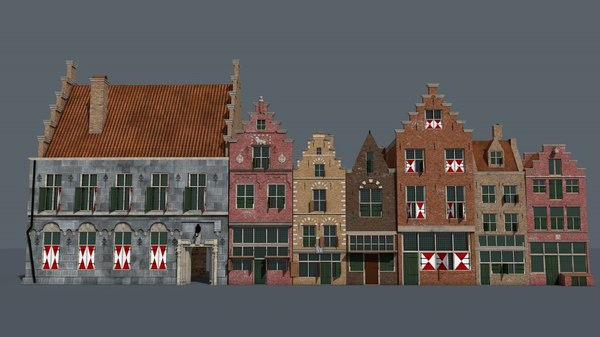 3D old dutch houses