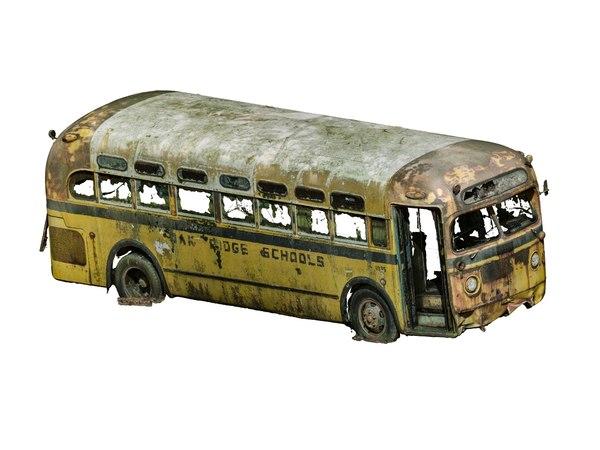 3D school bus photogrammetry scan model