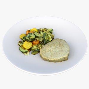 steak plate model