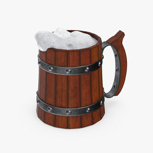 cartoon beer mug 3D model