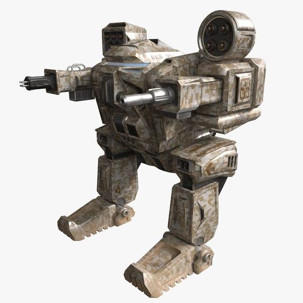 military mech model