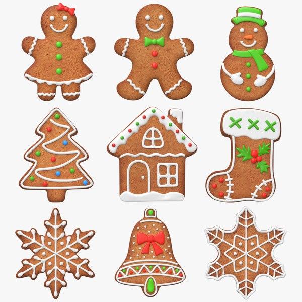 gingerbread cookie set 3d max
