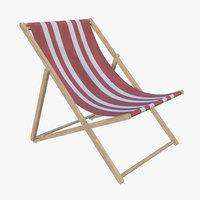 sun lounge beach 3D