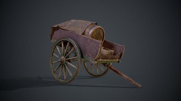 wagon cart ready 3D model