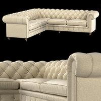 3D corner sofa chesterfield model