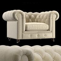 armchair chesterfield 3D model