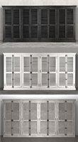 shutter 8-door cabinet 3D