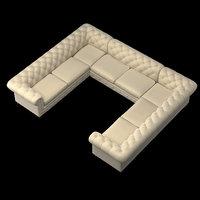 chesterfield restoration hardware 3D