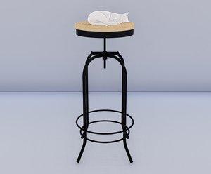 industrial stool 3D