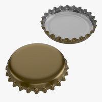 3D model beer cap