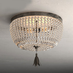 3D ceiling lamp crys model
