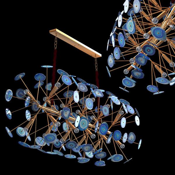 blue chandelier 3D model