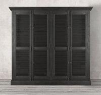 3D shutter 4-door cabinet