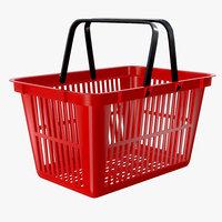 3D model shopping basket plastic
