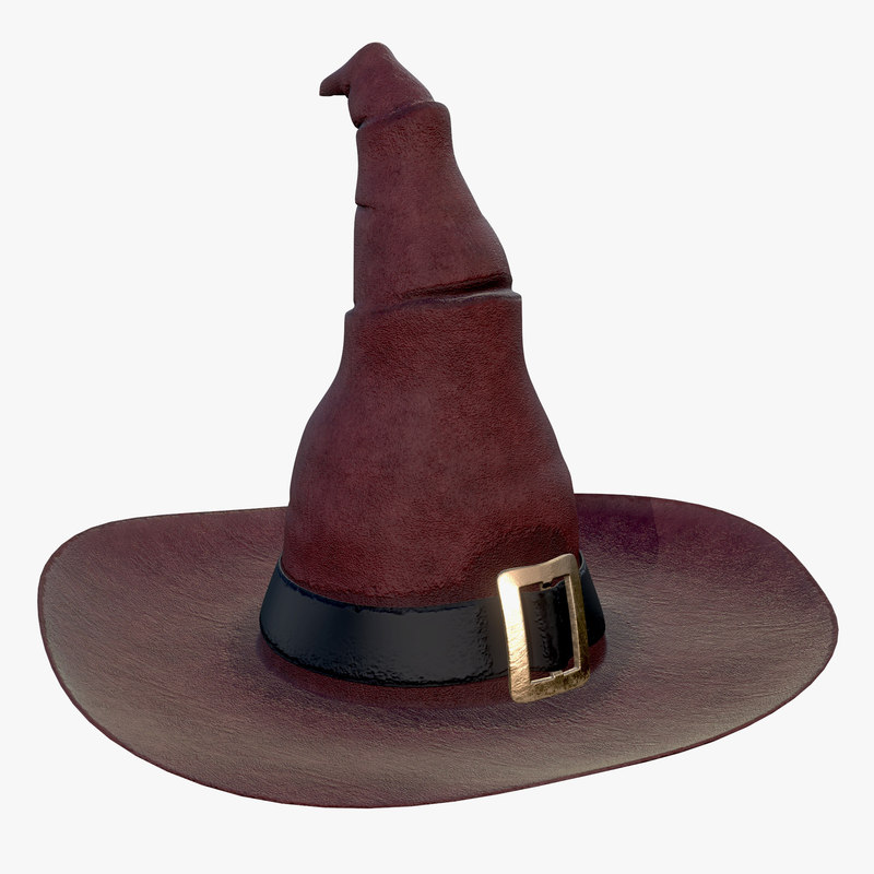 3D witch hat halloween model
