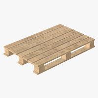 pallet wood wooden 3D model