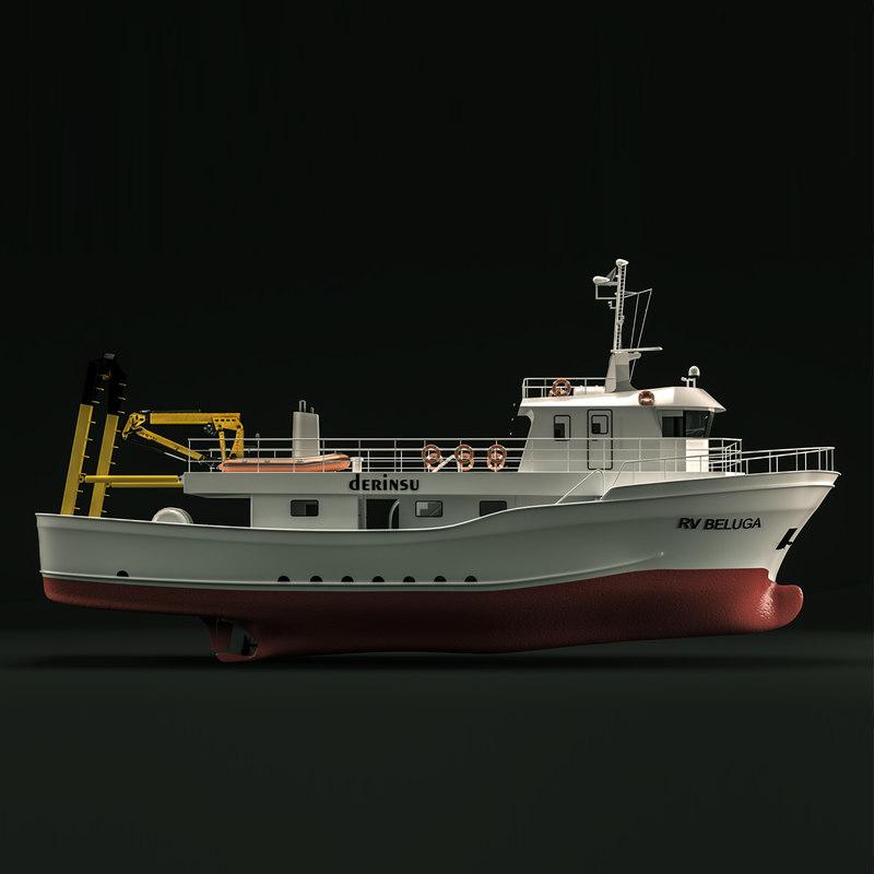 research ship 3D model