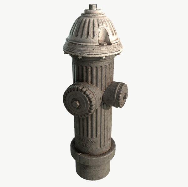 3D model hydrant metalness