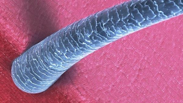 hair microscope style 3D model
