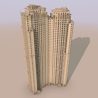 jumeirah beach residence apartment building 3D