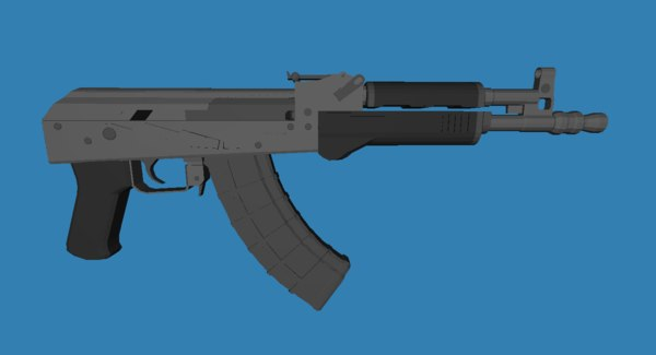 ak pistol 3D model