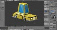 3D yellow car model