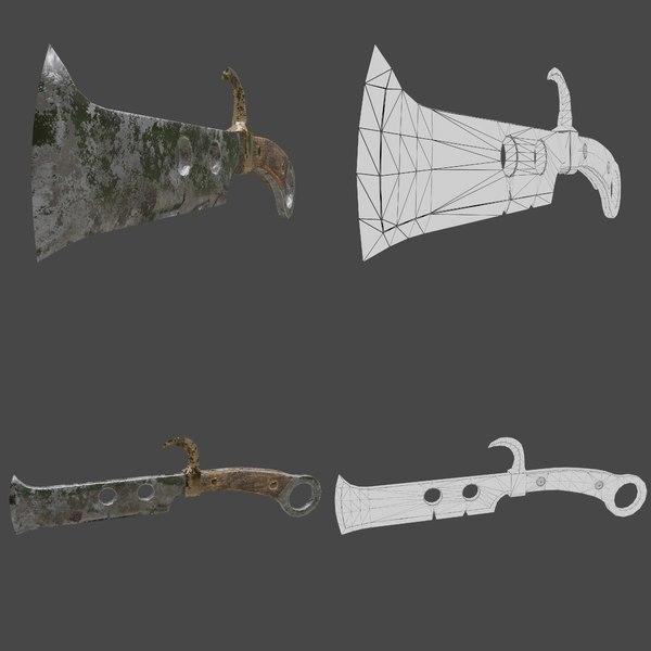 3D old knife hook
