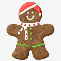 gingerbread man 3D