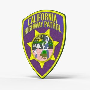 los angeles shield patch 3D model