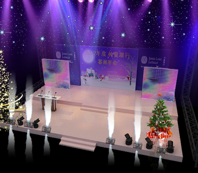 3D stage party concert fashion model