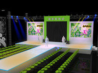 stage party concert fashion 3D model