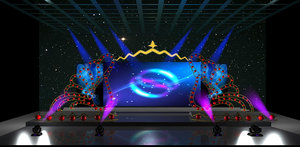 3D model stage party concert fashion