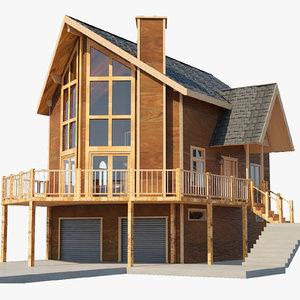 3D cabin architectural interior model